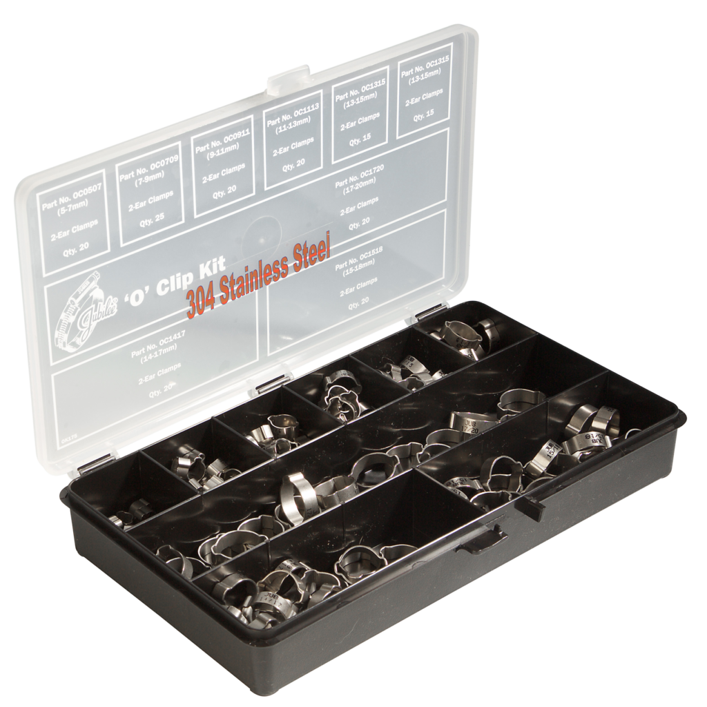 Jubilee® 304 Stainless Steel 'O' Clip Kit