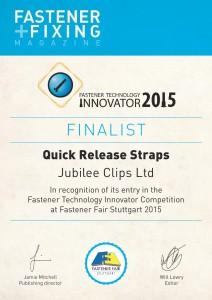 Innovator 2015 Certificate Jubilee Clips