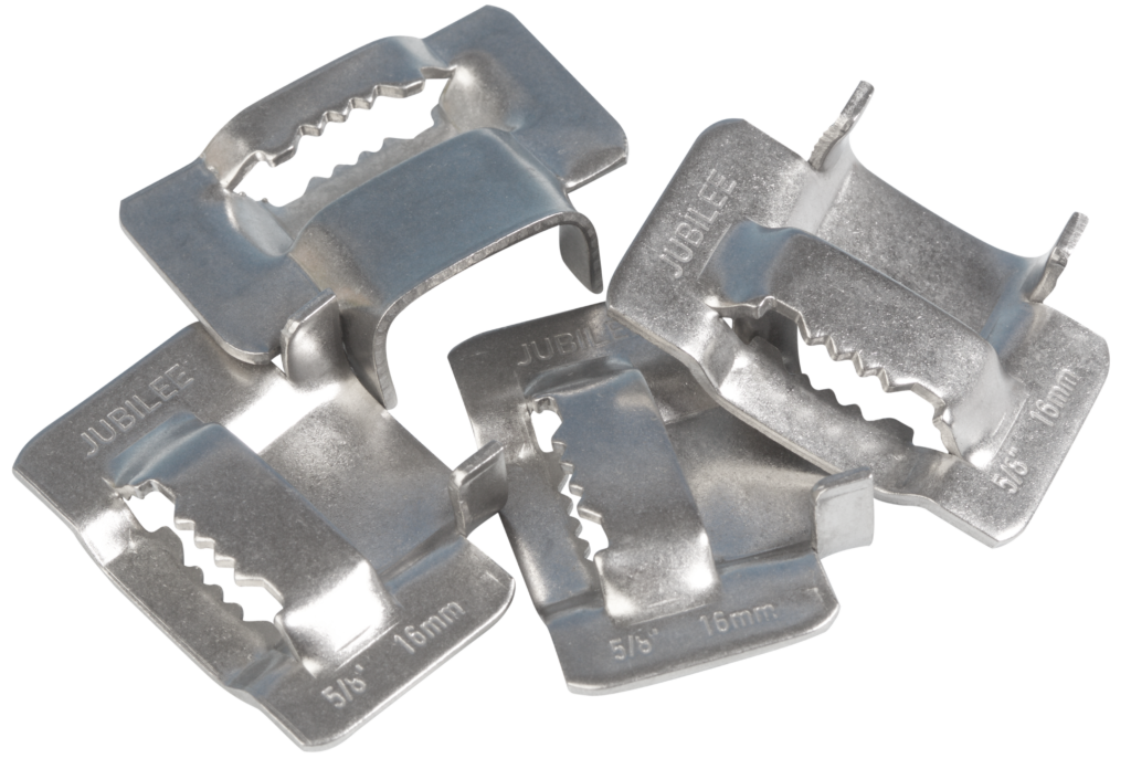 Jubilee 16mm Flexiband 304 Stainless Steel Buckles