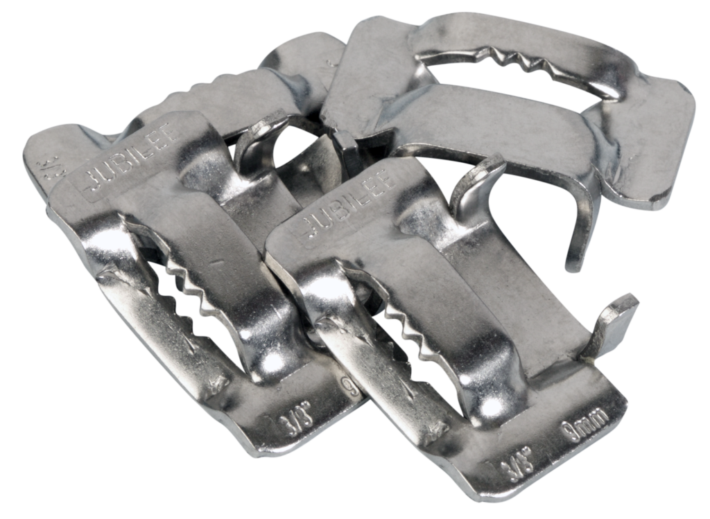 View Jubilee 9mm Flexiband 304 Stainless Steel Buckles