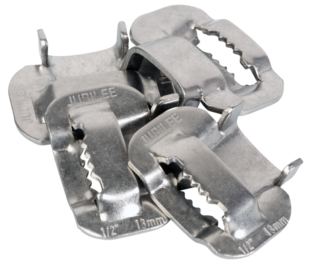View Jubilee 13mm Flexiband 304 Stainless Steel Buckles