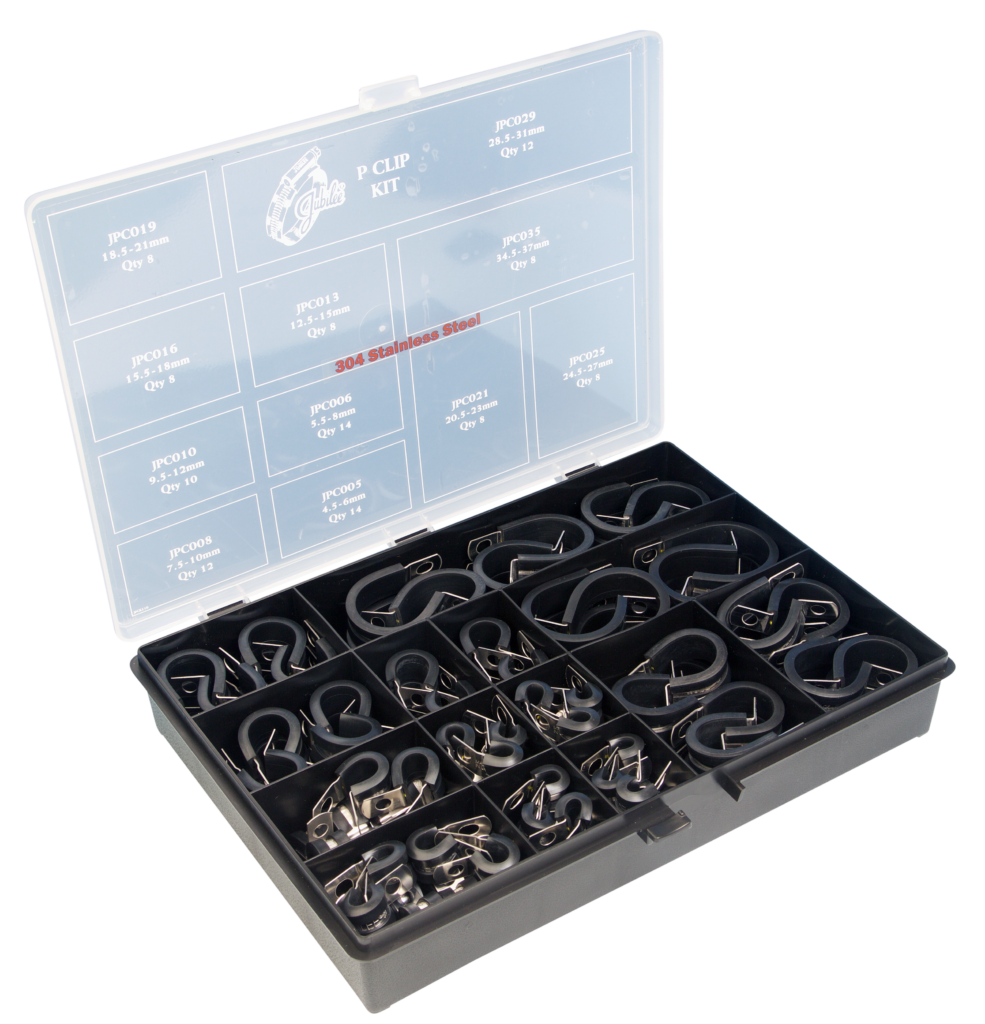 Jubilee® 304 Stainless Steel 'P' Clip Kit