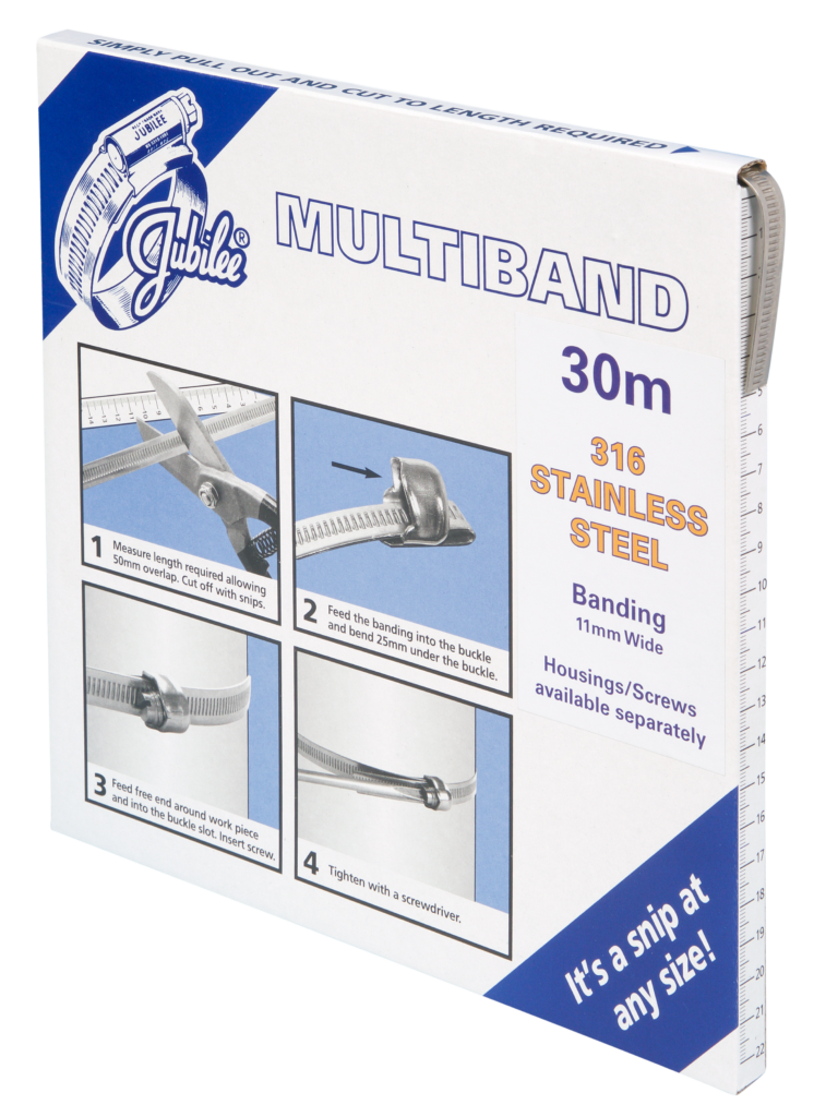 Jubilee Multiband 316 Stainless Steel 11mm Banding 30m