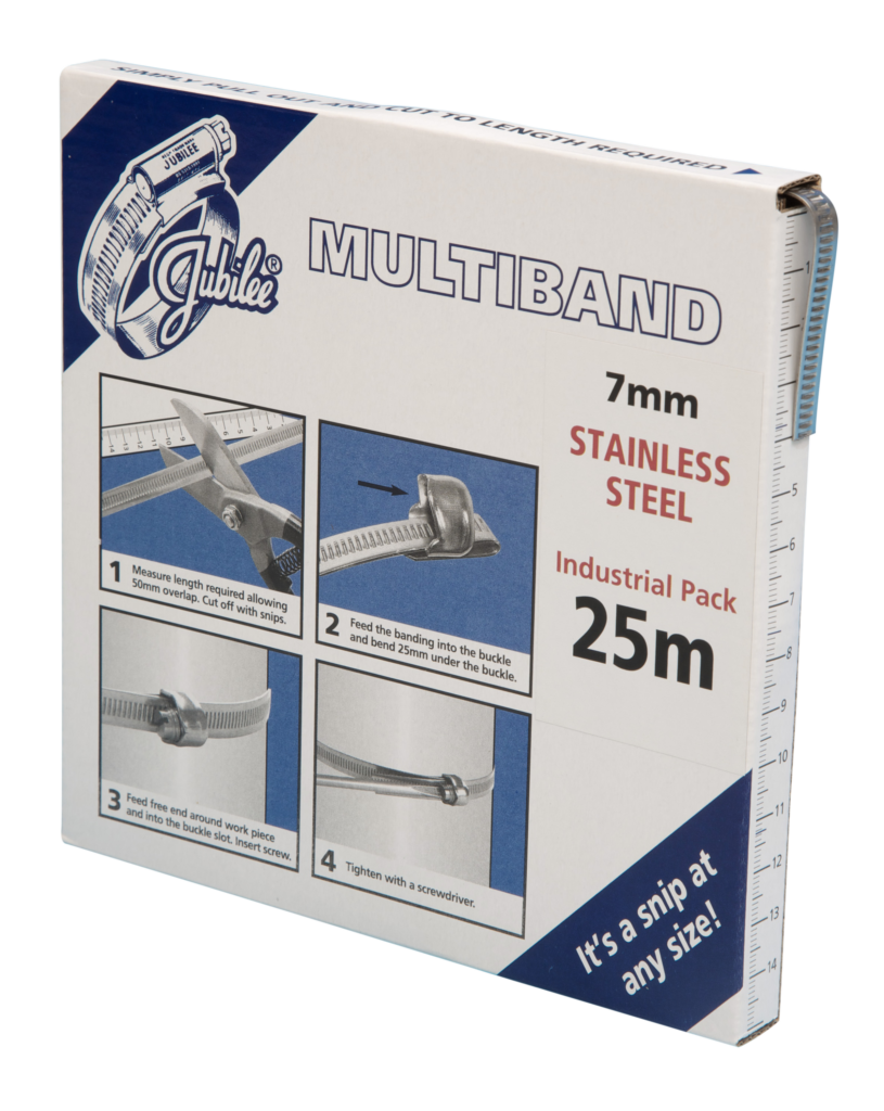 View Jubilee Multiband 304 Stainless Steel 7mm Banding 25m