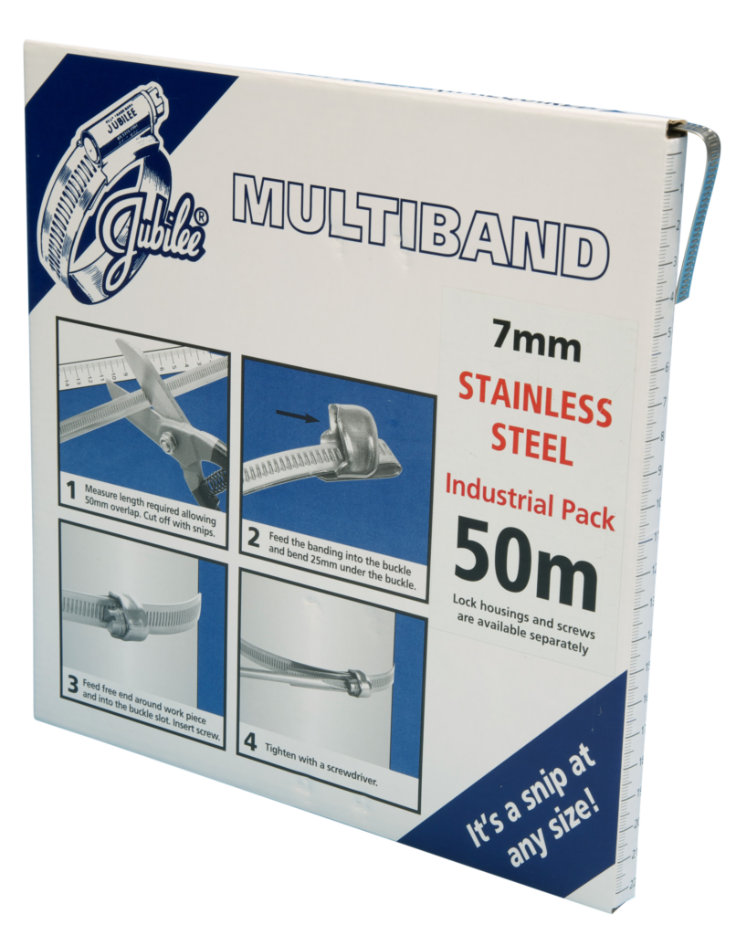 View Jubilee Multiband 304 Stainless Steel 7mm Banding 50m