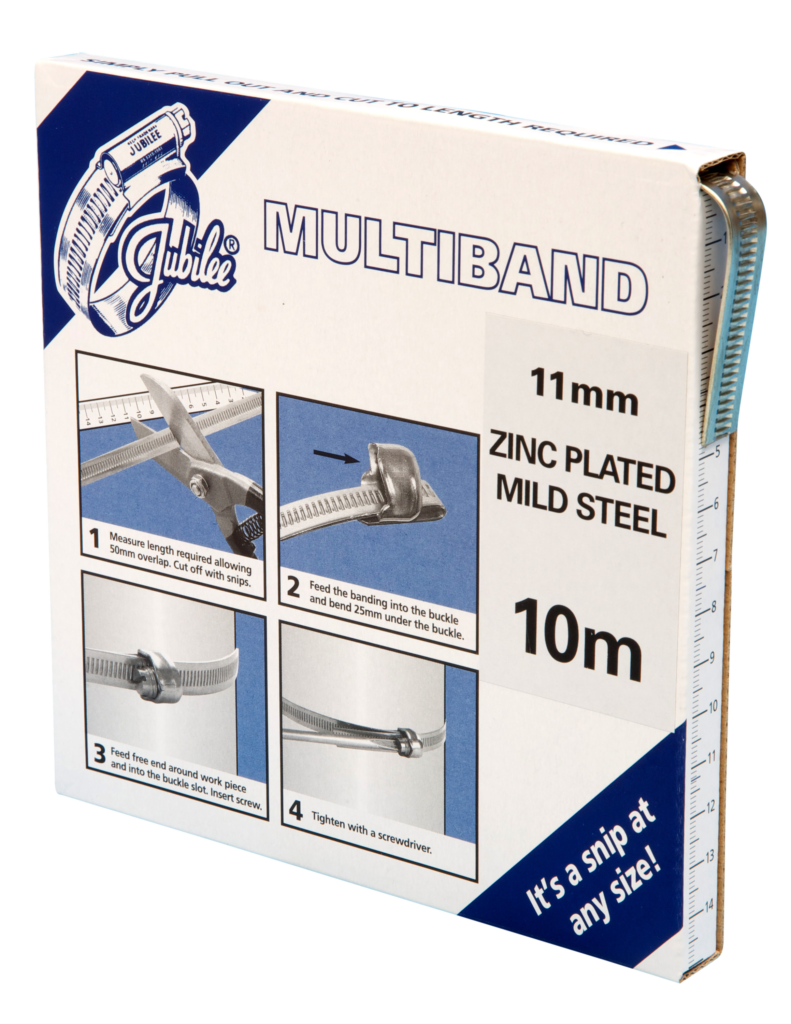 View Jubilee Multiband Mild Steel 11mm Banding 10m