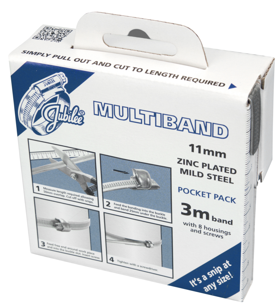 Jubilee Multiband Mild Steel 11mm Pocket Pack