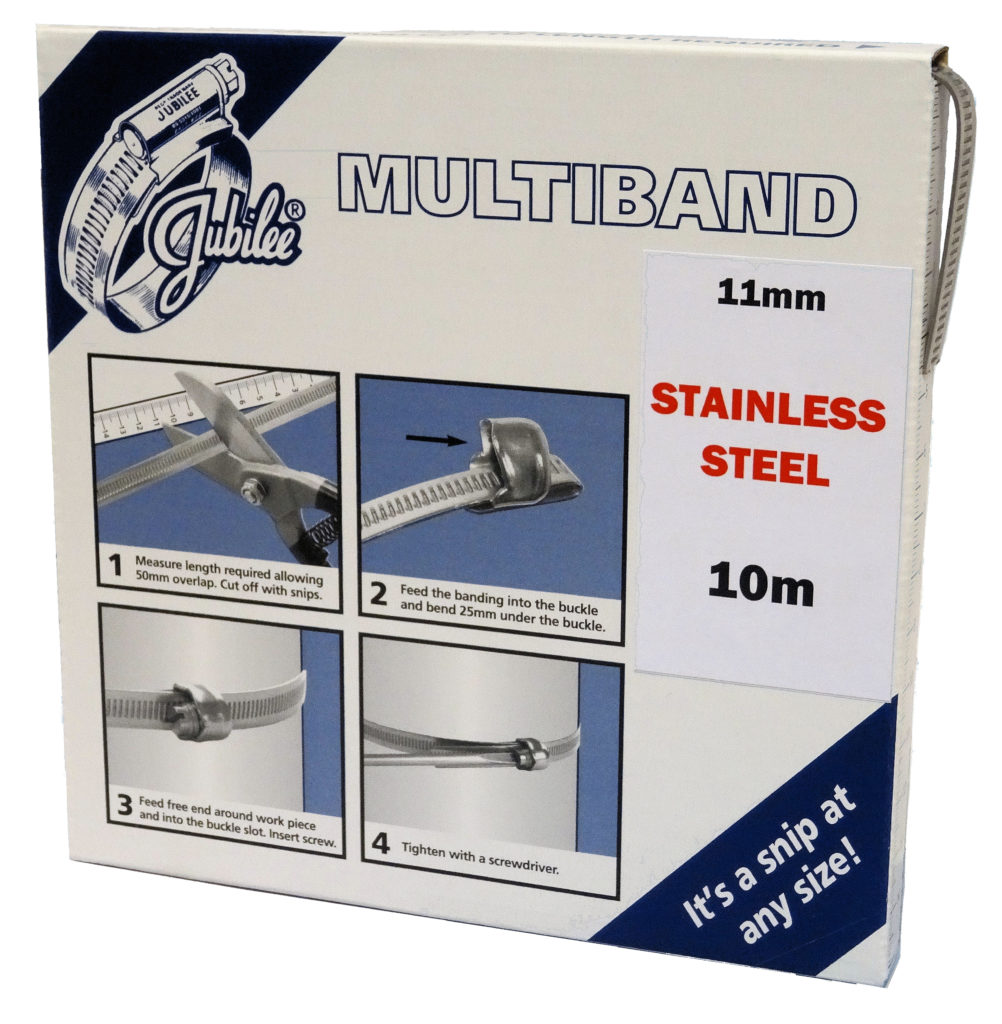 View Jubilee Multiband 304 Stainless Steel 11mm Banding 10m