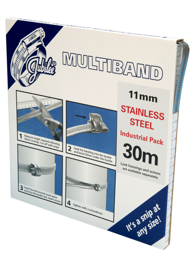 View Jubilee Multiband 304 Stainless Steel 11mm Banding 30m