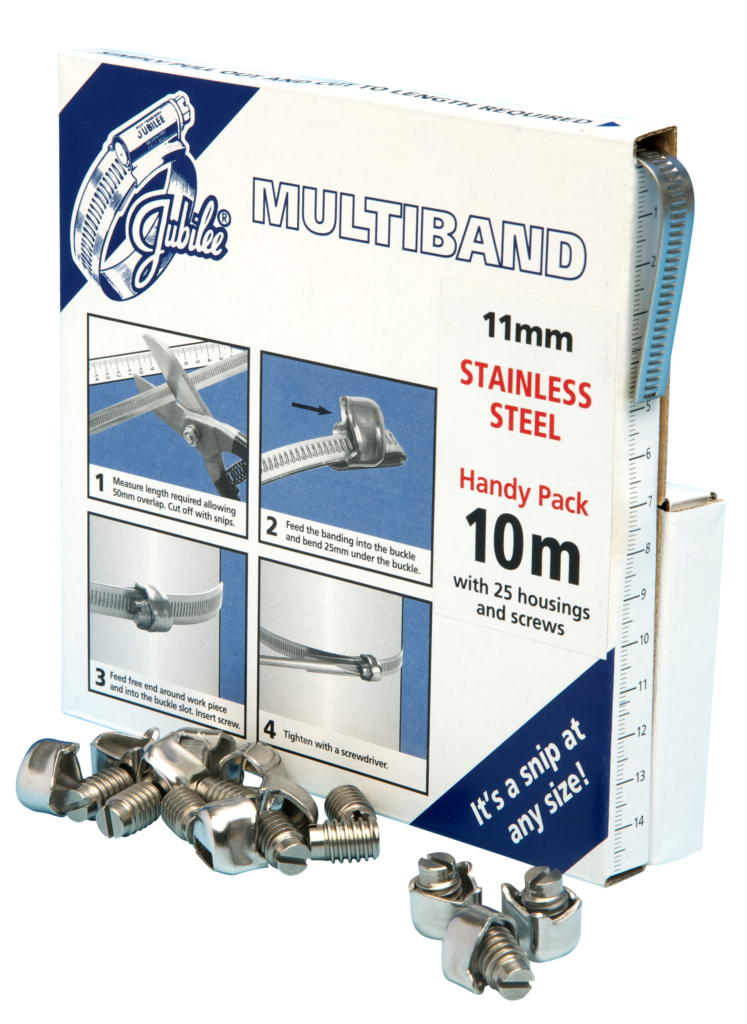 View Jubilee Multiband 304 Stainless Steel 11mm Handy Pack