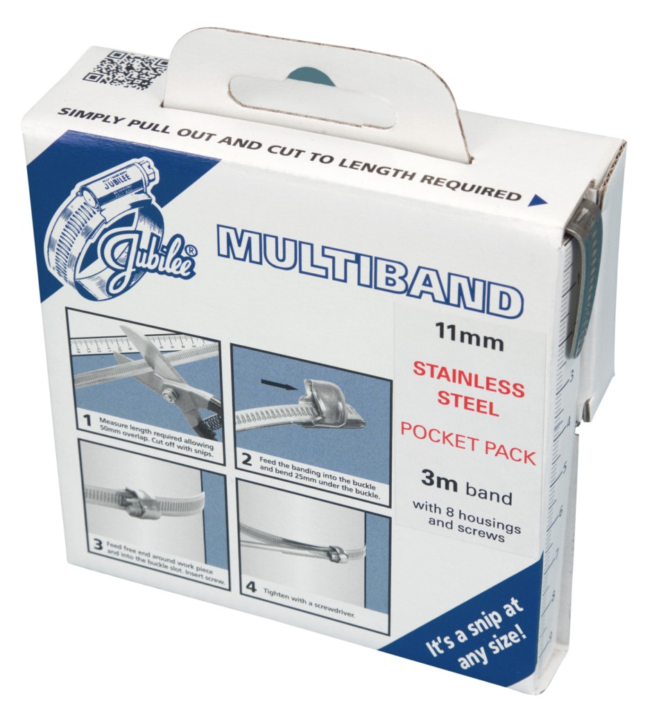 Jubilee Multiband 304 Stainless Steel 11mm Pocket Pack