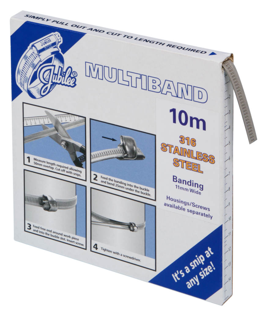 View Jubilee Multiband 316 Stainless Steel 11mm Banding 10m